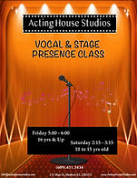 Vocal & Stage Presence Class Flyer Type