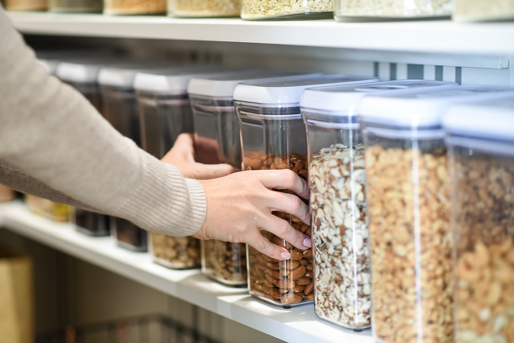 Rest Your Nest blog pantry organization containers