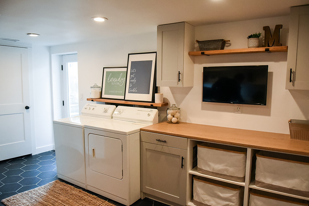 beautiful and styled laundry room in utah