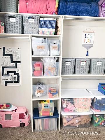 Reset Your Nest Playroom Closet Organization