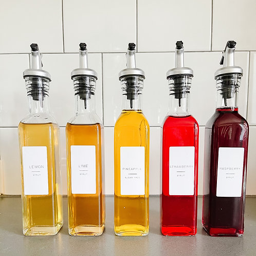 Minimalist Syrup Label Set