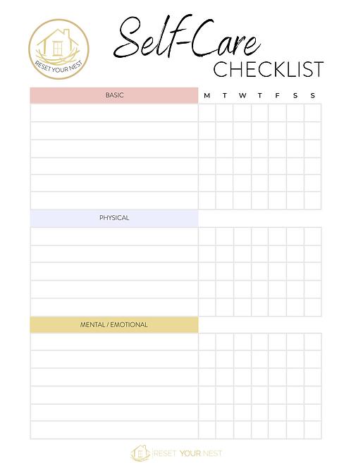 February Self Care Checklist