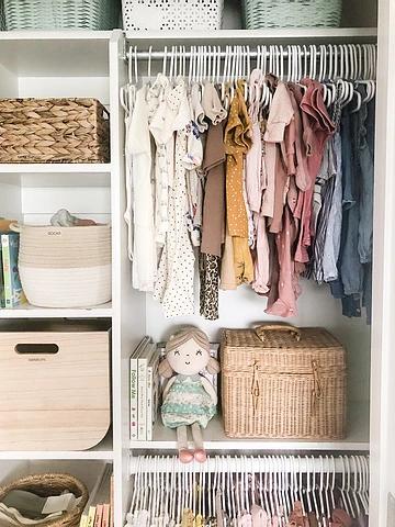 Reset Your Nest Girl's Closet Organization