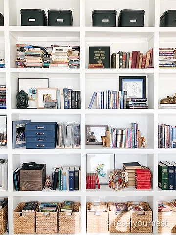 Reset Your Nest Bookshelf Styling and Organization