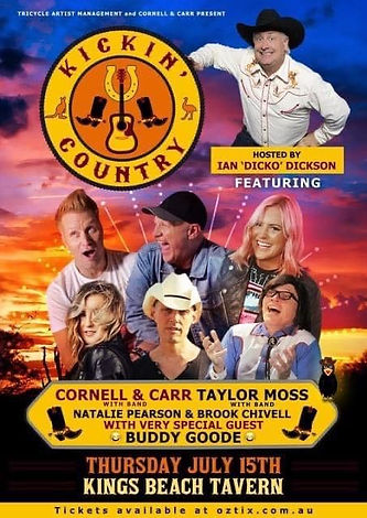 Kickin' Country Caloundra with Buddy Goode, Cornell & Carr, Taylor Moss, Brooke Chivell, Nat Pearson