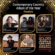 Contemoary Country Album of th Year Finalists Golden Guitar Awars 2020