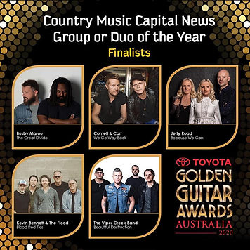 Finaists Country Musi Capitl News Group or Duo of the Year Golden Guitars 2020