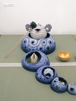 2007「アートなお茶事」展示(部分).JPG