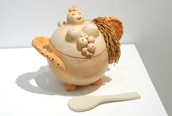 2009「豊穣鍋」27×21×26cm、陶、稲穂.JPG