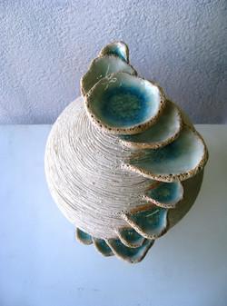 2012「青い天上の泉(水指編)」17×17×20cm