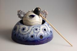 2007「ちょろり御茶道具」35×40×40cm、陶、竹.JPG