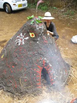 2008.7 泥窯焼きワークショップ
