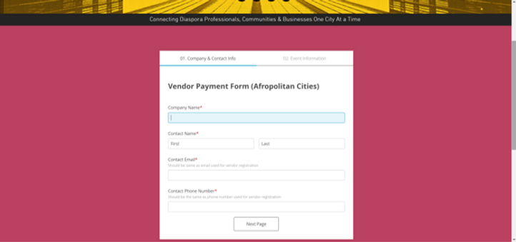 Vendor Payment Form - Afropolitan Cities