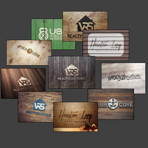 "(10) Logo Impressions  ""Wood Collection"""