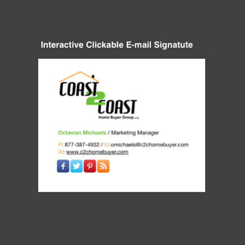 HTML Interactive email signature