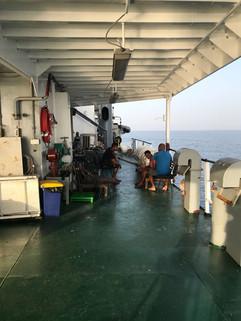 Sheltered deck below Heli Deck