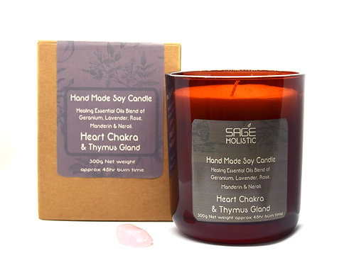 Heart Chakra & Thymus Gland 300g Candle