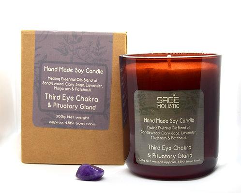 Third Eye Chakra & Pituatory Gland 300g Candle