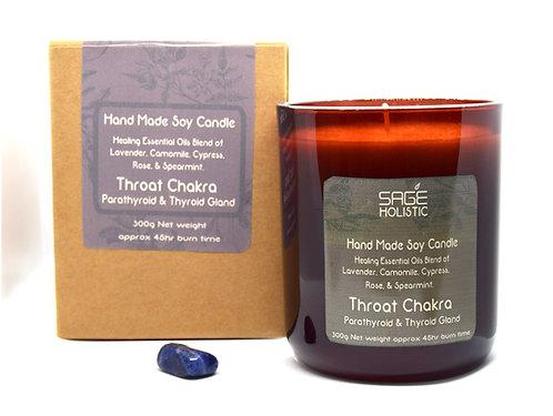 Throat Chakra, Parathyroid & Thyroid Gland 300g Candle