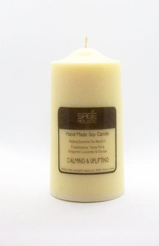 Calming & Uplifting 265g Pillar Soy Wax Candle