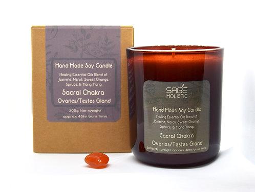 Sacral Chakra Ovaries & Testes Gland 300g Candle