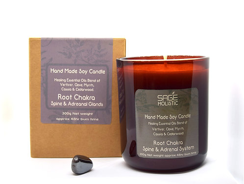Root Chakra, Spine & Adrenal Glands Soy Wax Candle 300g