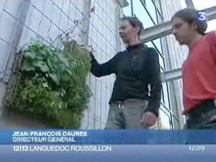 France 3 / Le mur végétal de l'architecte  Jean-François Daures