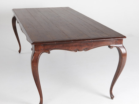 A hand carved French Provincial harvest table, and some construction photos