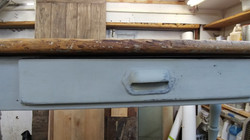 farmhouse console table repair 2