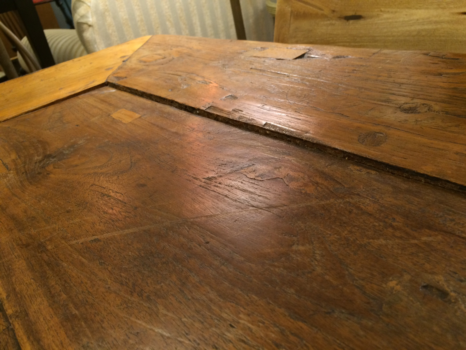 659 furniture repair Portland Oregon farmhouse table before 016