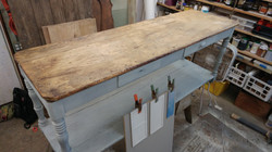 farmhouse console table repair 6