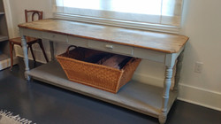 farmhouse console table repair 1