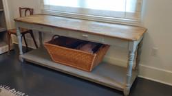 farmhouse console table repair 1