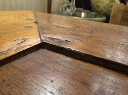 659 furniture repair Portland Oregon farmhouse table before 017