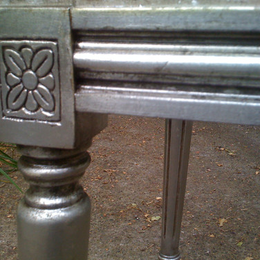 small silver bench