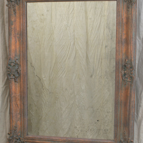 """""""aged"""" copper and """"antique"""" mirror"""