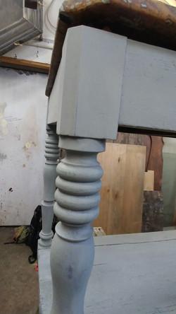 farmhouse console table repair 7