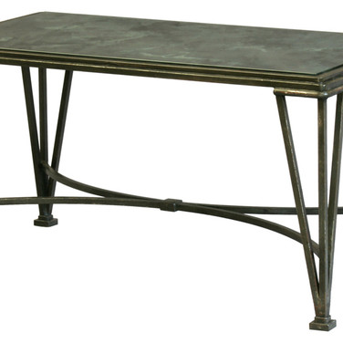 metal coffee table with antique mirror top