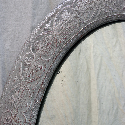 silver leaf antique mirror
