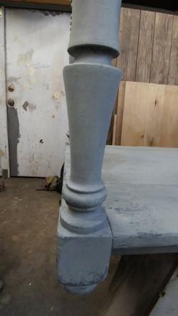 farmhouse console table repair 8