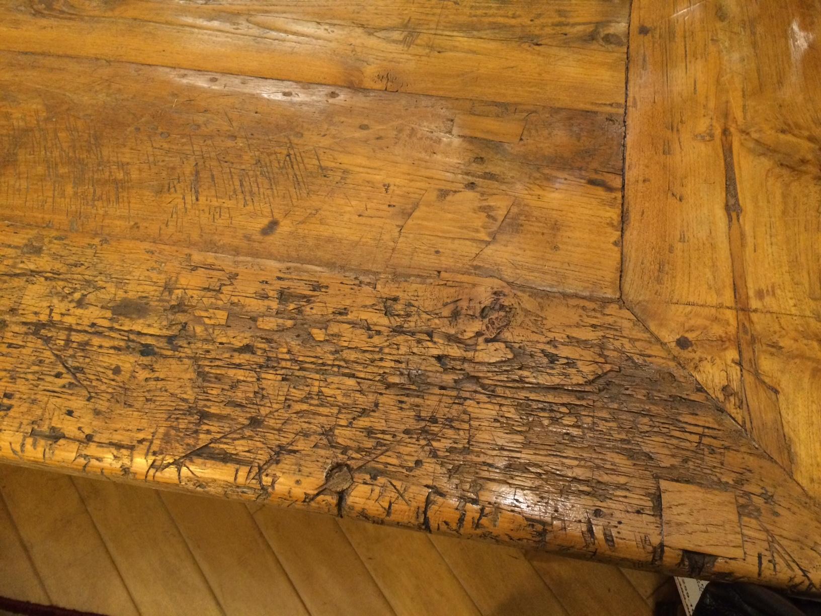 659 furniture repair Portland Oregon farmhouse table before 013