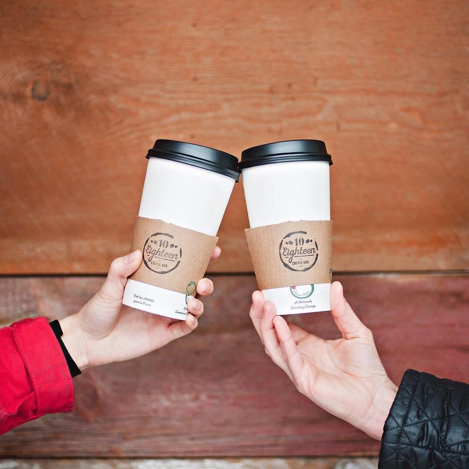 Daily coffee is a daily ritual. Photo via Facebook / @10Eighteen