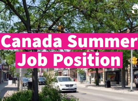 We're hiring! Canada Summer Jobs position available