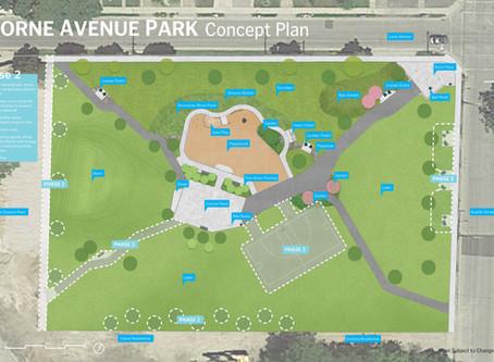 Lorne Ave. Park construction begins June 15!