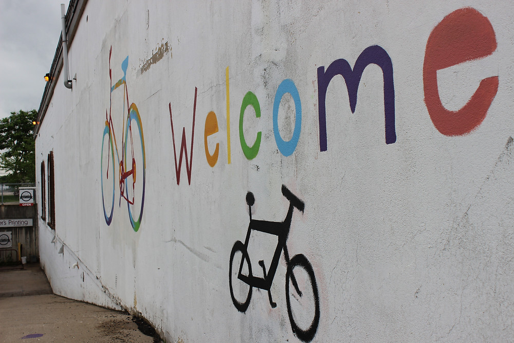 A warm welcome from Squeaky Wheel Bike Co-Op!