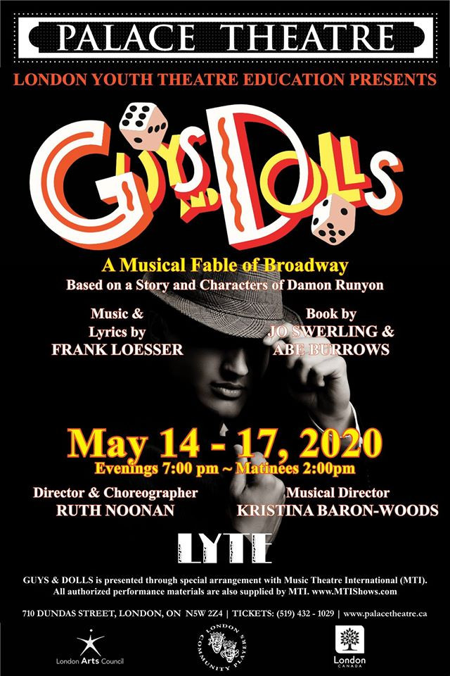 "Originally scheduled to run March 18-22, The Palace Theatre's ""Guys & Dolls"" has been rescheduled for May 14 - 17, 2020."