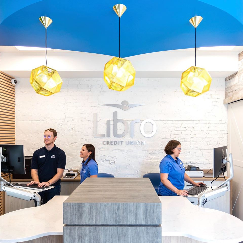 Libro's new, bright, and beautiful OEV location. Photo via Facebook / @LibroCreditUnion