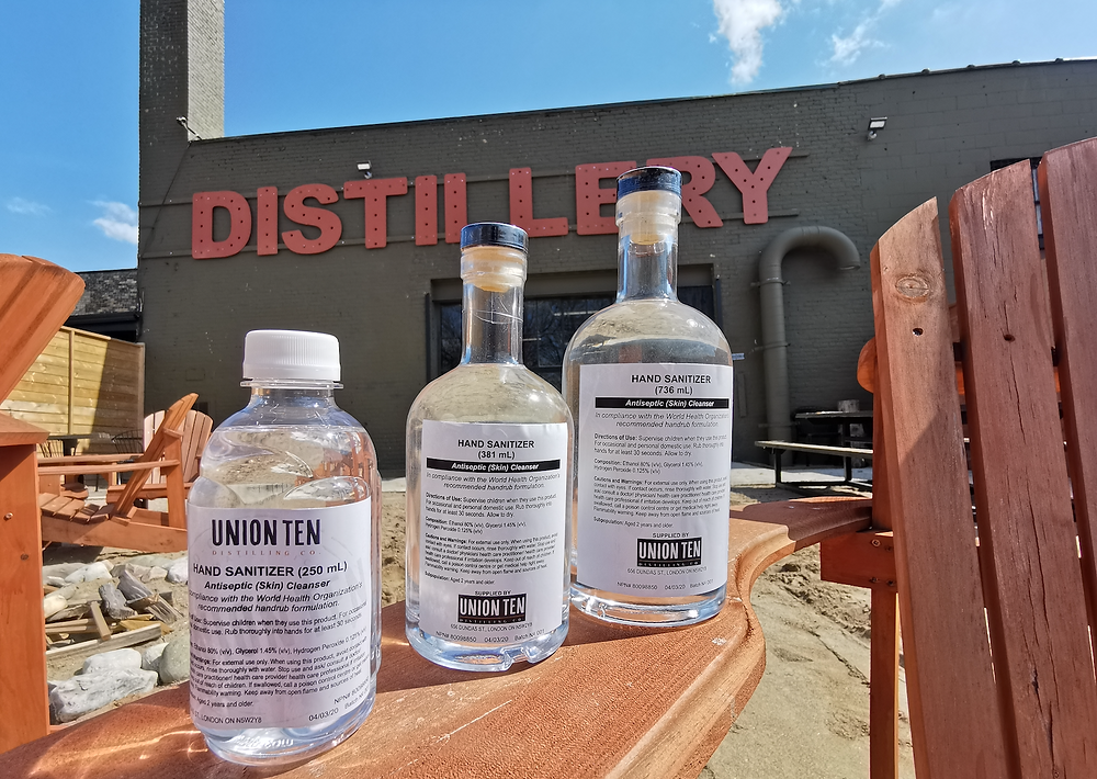Hand sanitizer brought to you by Union Ten Distillery! Photo Courtesy of Brandon Phoenix