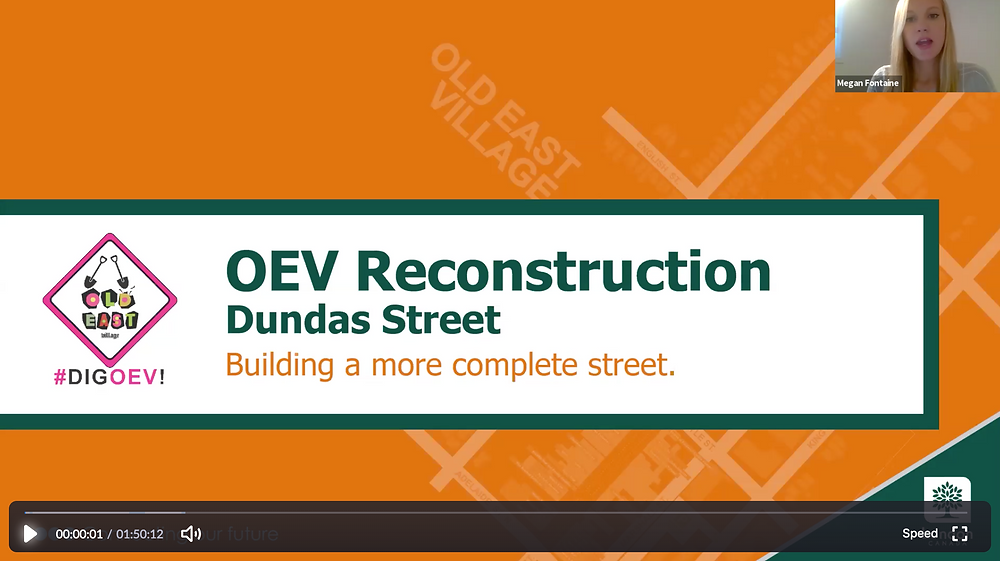 The City of London's Megan Fontaine kicked off the Pre-Construction Webinar on Apr. 23