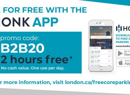 FREE 2 Hour Municipal Parking in London's Core